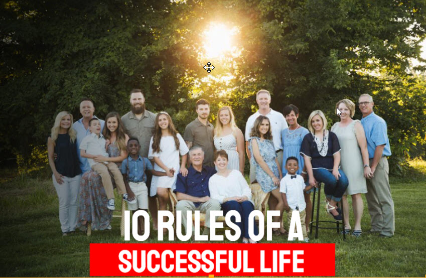 10 Rules of a Successful Life